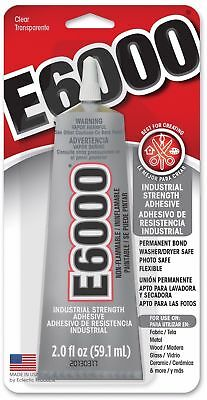 E6000 Industrial Strength Clear Glue Craft Adhesive 2.0Oz Permanent Bond