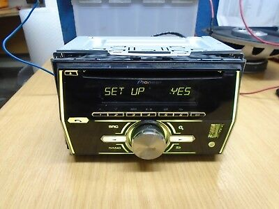 Genuine Pioneer Fh-X700Bt - Double Din Cd Usb Aux In Radio - Leads Included