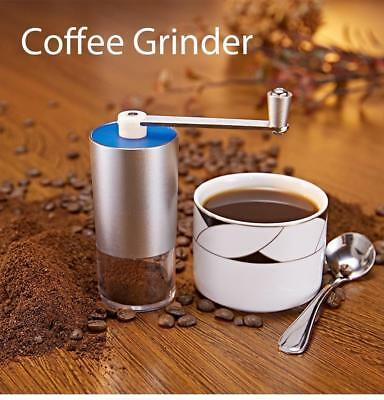 Mini Coffee Grinder Manual Transparent Adjustable Body Home Office Kitchen Bean