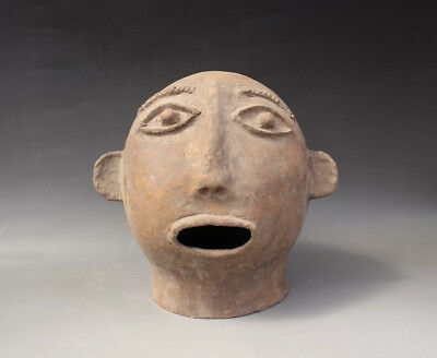 Chinese Ancient Qijia culture pottery head