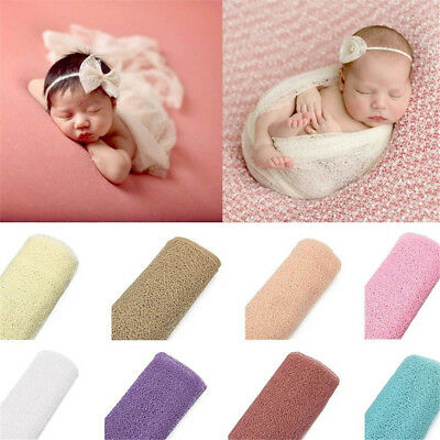 Baby Photography Props Blanket Rayon Wraps Stretch Knit Wrap Newborn Swaddling