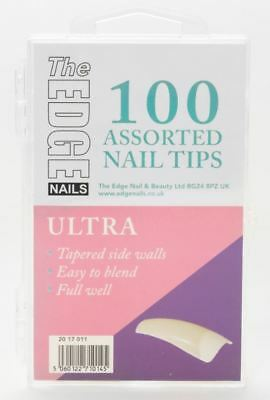The Edge Ultra Ongles Artificiels 100 Assorted Lot Complet Bien Ongles Embouts