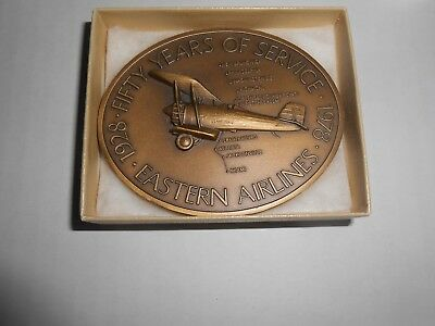 Eastern Airlines Bronze Medal Medallion 50 Years Apollo 8