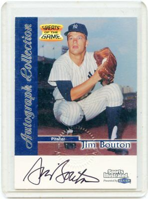 40d507cd778 JIM BOUTON 1999 Fleer Sports Illustrated Autograph card -  30.00 ...
