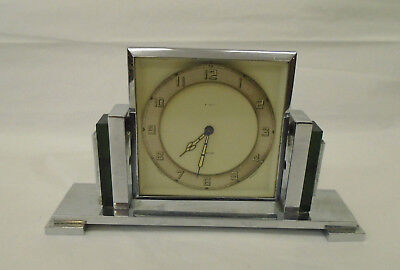 Stunning Antique / Vintage Art Deco Smiths 8 Day Clock - Very Sylish