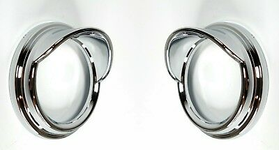 Pair Chrome Gauge Covers w/ Visor/Hood, Small Classic for Peterbilt 1987-05