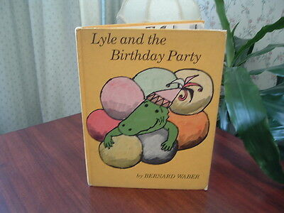 Lyle and the Birthday Party by Bernard Waber vintage 1966 hardcover book