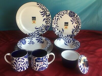 Lot Of 9pc Malmo Bloom Stoneware By Denby! New/Open Stock. NWT