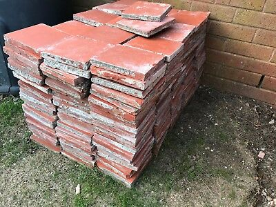 Reclaimed traditional terracotta quarry tiles 6 inches square (300 available)