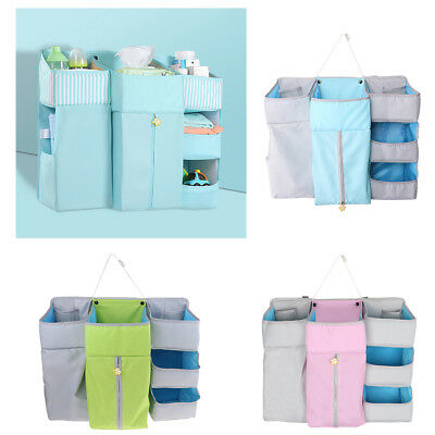 Nursery Baby Bed Storage Organizer Caddy Toy Diaper Clothes Hanging Bag