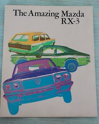 1973 Mazda RX3 Sales Brochure Rotary Engine- photos drawings and specs 12 pages
