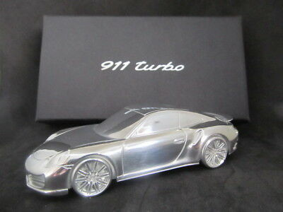 PORSCHE 911 Turbo 1/43 Scale Limited Edition Solid Billet Aluminum Paperweight