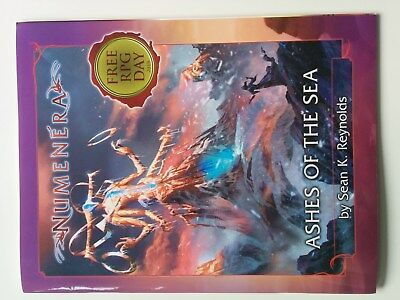 "Numenera Free RPG Day 2018 Promo Abenteuer ""Ashes of the Sea"" *wie neu*"