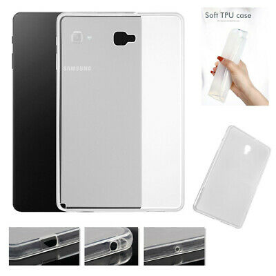 Soft TPU Silicone Back Cover Clear Case For Samsung Galaxy Tab .