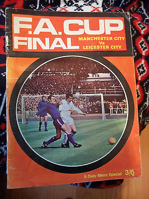 F A Cup final LEICESTER CITY V MANCHESTER  CITY book 1969