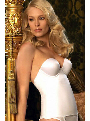 NWT Beautiful Bra-Sized 34A White Strapless Bustier by Felina - 60% Off