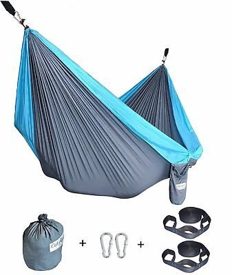 Double Camping Hammock With Tree Straps Portable Parachute Nylon For Backpacking