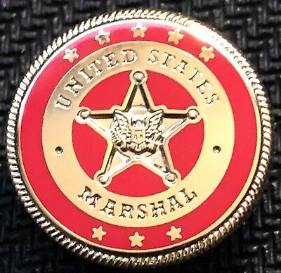 USMS - US Marshals Service Color-of-the-day 53rd District NY red lapel Pin