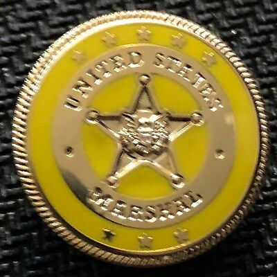 USMS - US Marshals Service Color-of-the-day 53rd District NY yellow lapel Pin