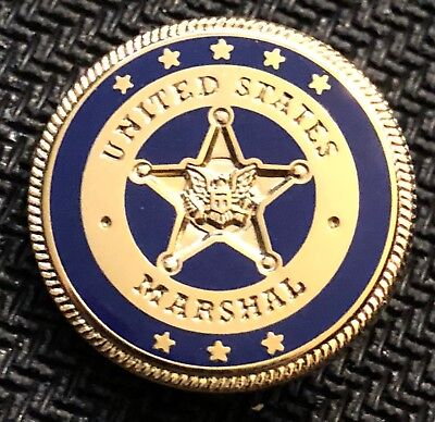 USMS - US Marshals Service Color-of-the-day 53rd District NY blue lapel Pin