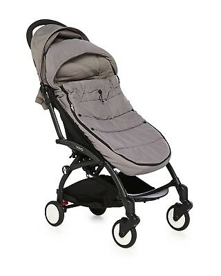 BabyZen Hooded Footmuff Gray-fits ZEN & YOYO strollers (Stroller Not Included)