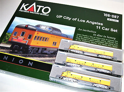 KATO 106087 1765317 1765318 1765354  N UP City of Los Angeles 11 Cars & 3 locos