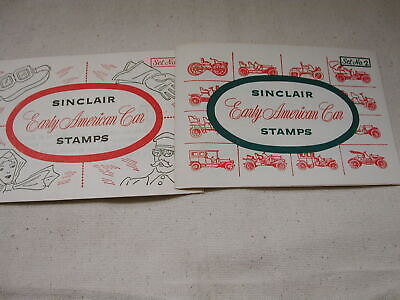 Sinclair Early American Car Stamps Set of No. 2 and 5