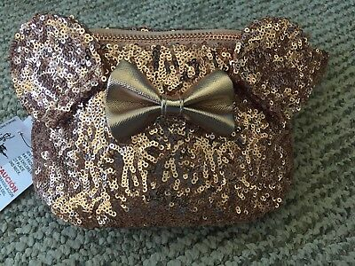 Disney Parks Exclusive Loungefly Rose Gold Hip Bag Fanny Pack Disneyland NEW