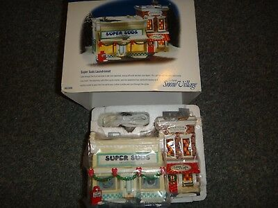 "Dept. 56 Snow Village  ""Super Suds Laundromat"" #55006"