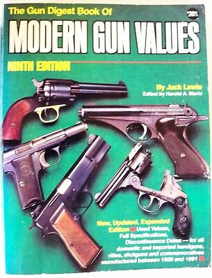 THE GUN DIGEST BOOK of MODERN GUN VALUES 9th EDITION 1993 by JACK LEWIS
