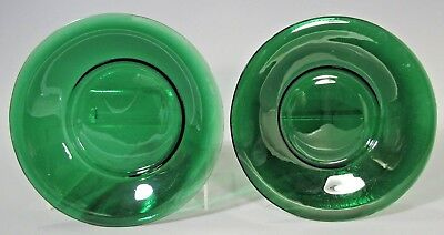 Pair China Chinese Peking Beijing Green Glass Plate late Qing Dynasty 19-20th c.