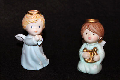Vintage 1986/1987 Avon Heavenly Blessings Nativity, Pair of Angels Set w. boxes