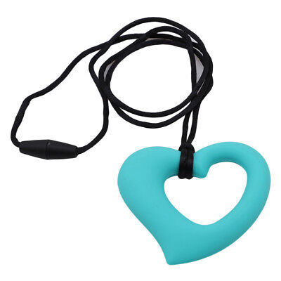 Baby Heart-Shape Silicone Teething Ring Chewing Teether Toy Pendant Non-toxic