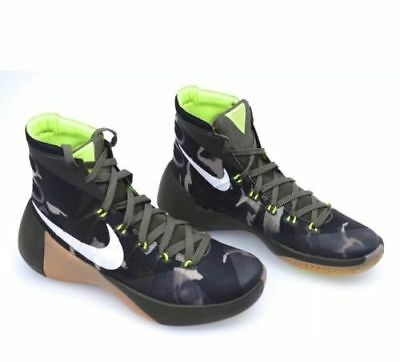 new arrival 86030 b0cca Nike Hyperdunk PRM 749567-313 Camo Green Trainers Basketball Shoes Sneakers  10
