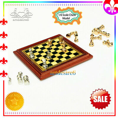 "1/6 Scale Chess Model Toy Metal Set DIY Scenery Accessories f 12"" Action Figure"