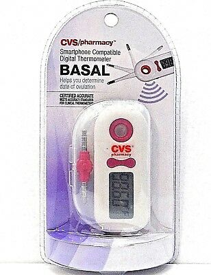 CVS Basal Thermometer Smartphone Compatible Predict Ovulation  NEW / SEALED