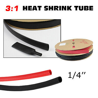 9 Pieces DW1S4X-SK Dual Wall 4:1 Adhesive Lined Heat Shrink Tubing Sample Kit