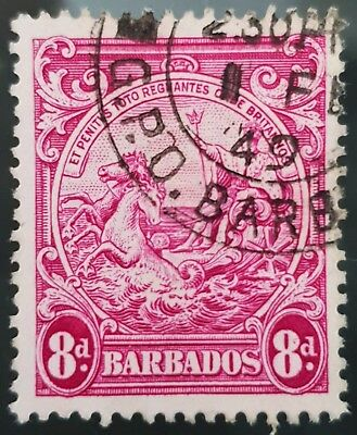 Barbados 1946 Sc # 199a Red Violet 8d Used NH Stamp