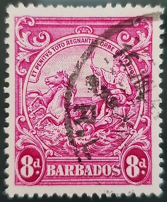 Barbados 1946 Sc # 199a Red Violet 8d Used NH Stamp Lot #5