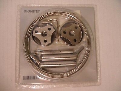 """Ikea BRAND New DIGNITET Curtain wire stainless steel, 197 """"~ FREE SHIPPING"""