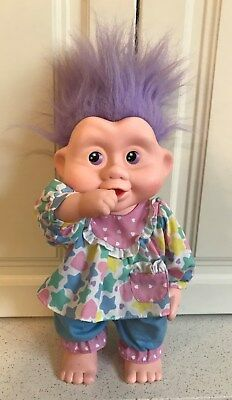 Vintage MAGIC TROLLS Babies VANESSA Troll Doll 1991 Applause
