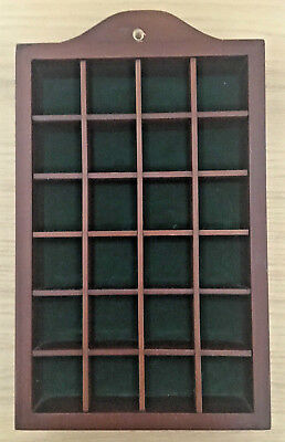 Wooden Thimble Display Rack / Holder Hold 24 Thimbles Wall Mountable