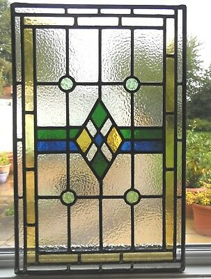Hand Made Stained Glass Panel Ready To Install- Ref Sg328