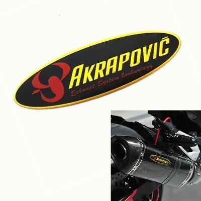 2pcs AKRAPOVIC Exhaust Pipe Sticker Heat-resistant 3D Aluminum Motorcycle Decal