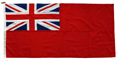 Red ensign traditionally sewn MoD approved flag marine grade woven polyester