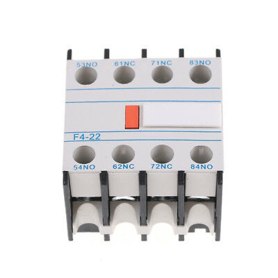 1Pcs Contactor auxiliary block F4-22,2NO+2NC The auxiliary contact LA1DN22#^