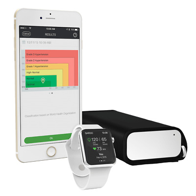 QARDIO ARCTIC WHITE ARM WIRELESS SMART BLOOD PRESSURE MONITOR ANDROID iPHONE iOS