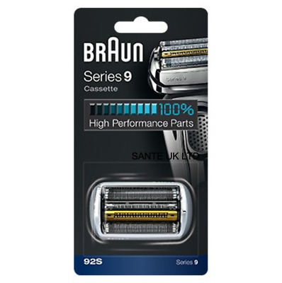 OFFICIAL! SERIES 9 BRAUN 92S SILVER Replacement Foil and Cutter Cassette