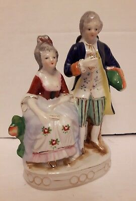"victorian figurine  porcelain 7"" made in occupied Japan excellent condition!"