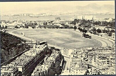 Hong Kong,  A view of Happy Valley in 1950's, Postcard (black/white)